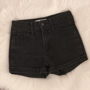 hollister • black denim shorts